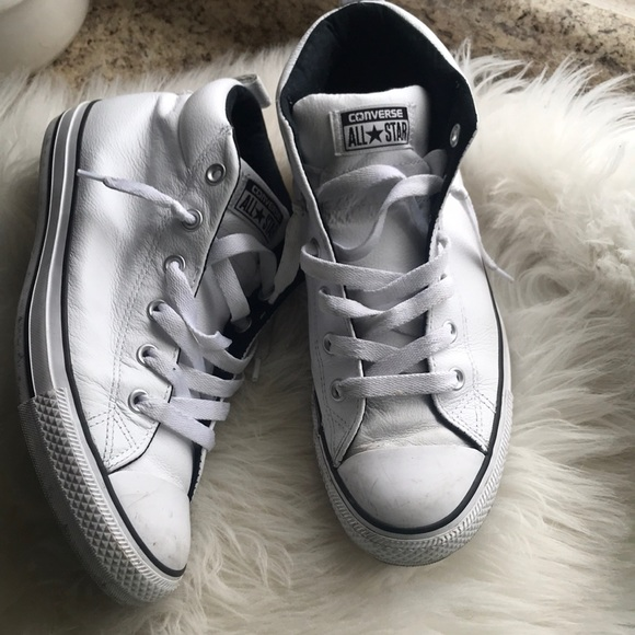 Converse All Star High Tops Sneakers White Leather